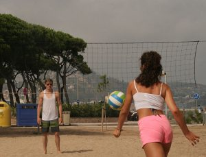Jugendreisen Blanes - Spanien Costa Brava Beachvolleyball