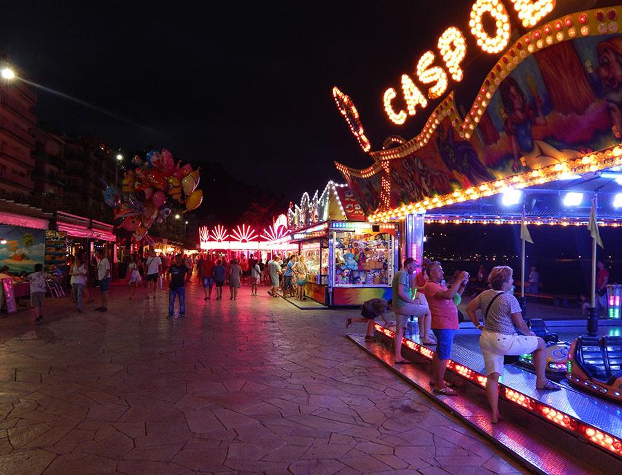 Jugendreisen Blanes - Spanien Costa Brava - Heimlaufen nachts