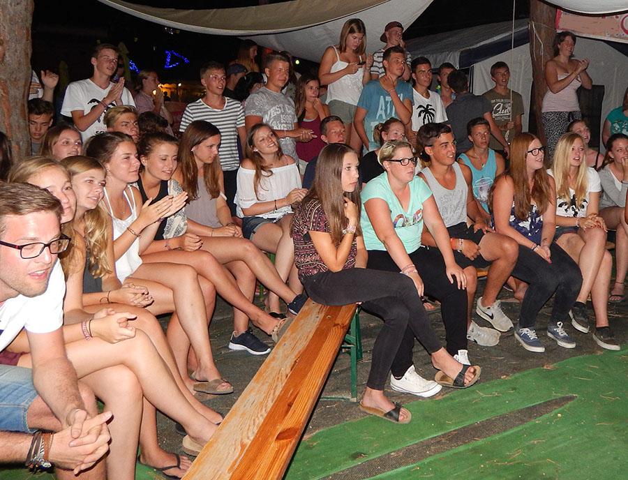 Jugendreisen Blanes - erste Abend Reiseteilnehmer