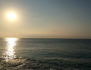 Jugendreisen Blanes - Spanien Costa Brava - Abendbild am Strand