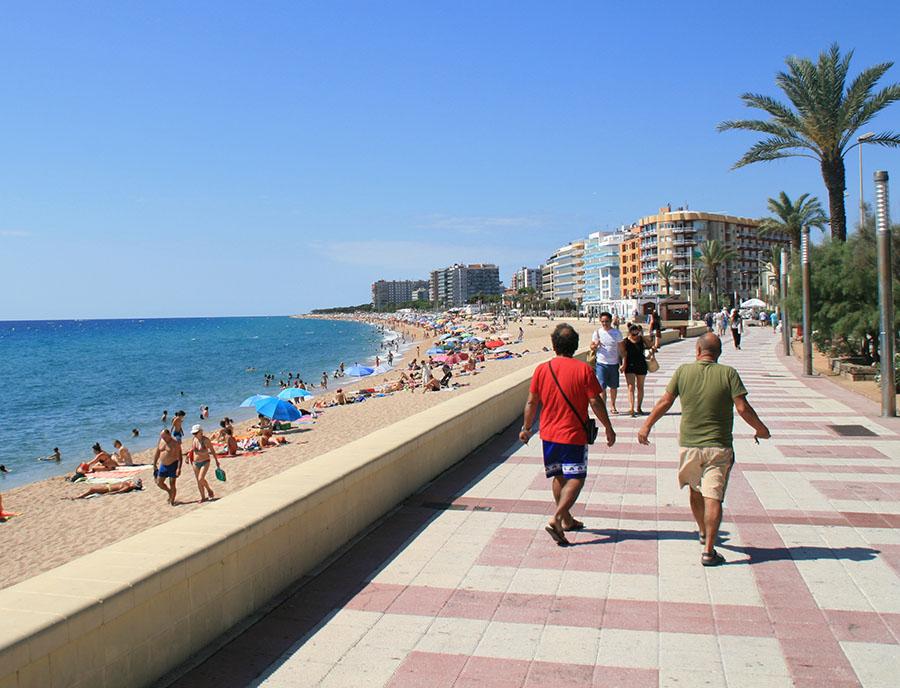 Jugendreisen Blanes Spanien Informationen - Ausblick Promenade