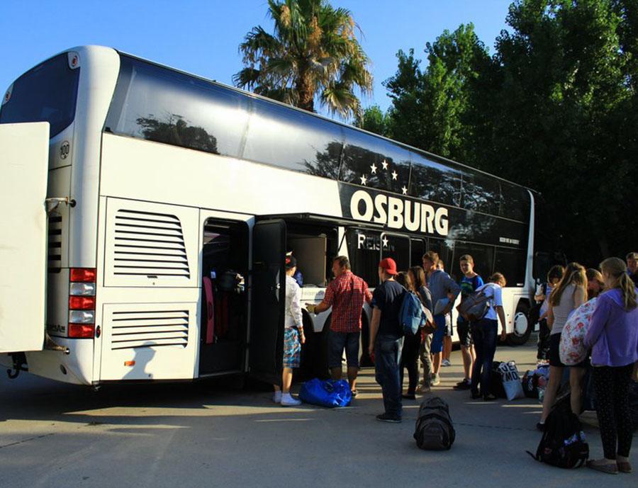 Jugendreisen Calella Spanien Anfahrt mit dem Bus