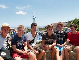 Jugendreisen Calella Spanien -Ausflug nach Barcelona im Park Güell