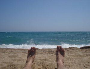 Jugendreisen Calella Spanien - Chillen am Strand
