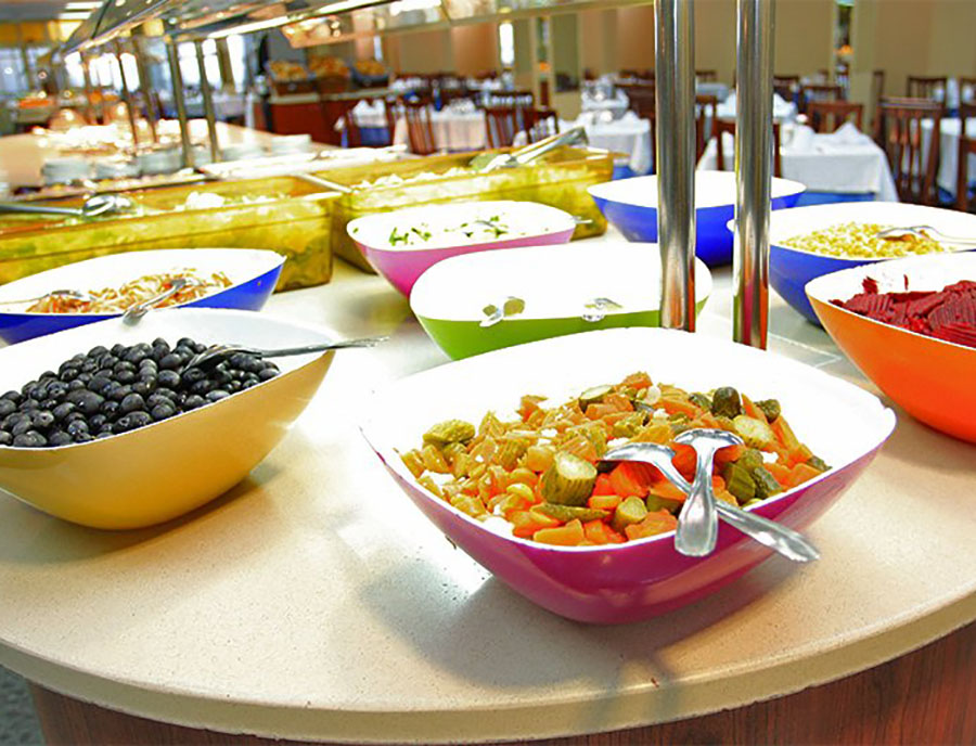 Salat Buffet Hotel Jugendreisen Calella