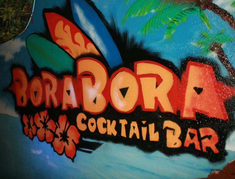 Jugendreisen Calella Spanien - Schild Bora Bora