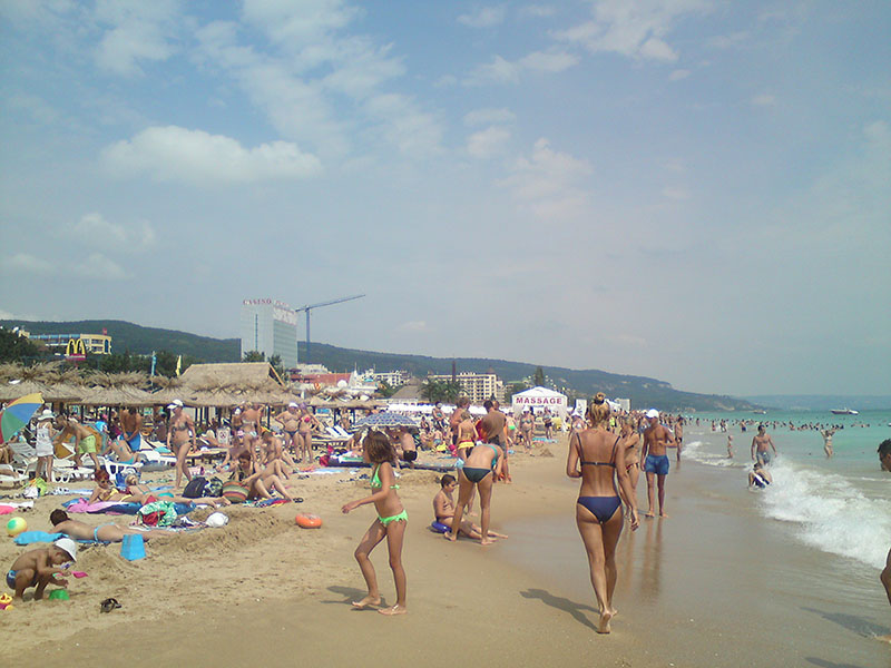 Partyurlaub Jugendreisen Goldstrand Bulgarien - Strand