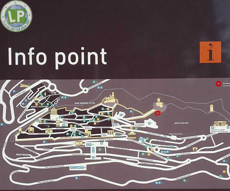 Übersicht Infopoint von San Marino