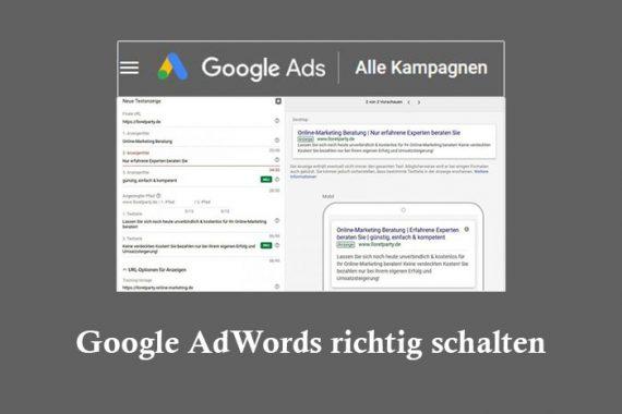 AdWords richtig schalten Tipps