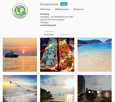 Instagram Marketing Lloretparty Kanal