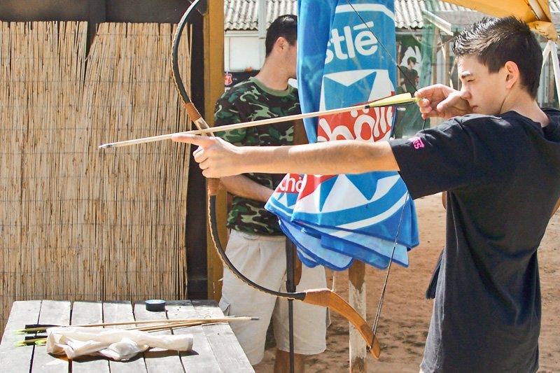 Jugendreisen Siofok Freizeitaktivität Bogenschießen