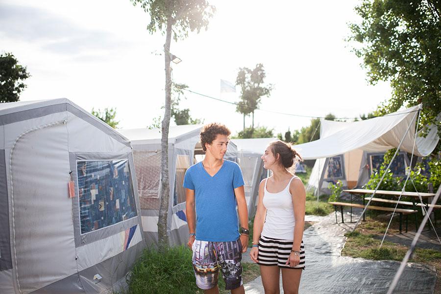 Jugendreisen - Unterbringung im Camp hier Zelte