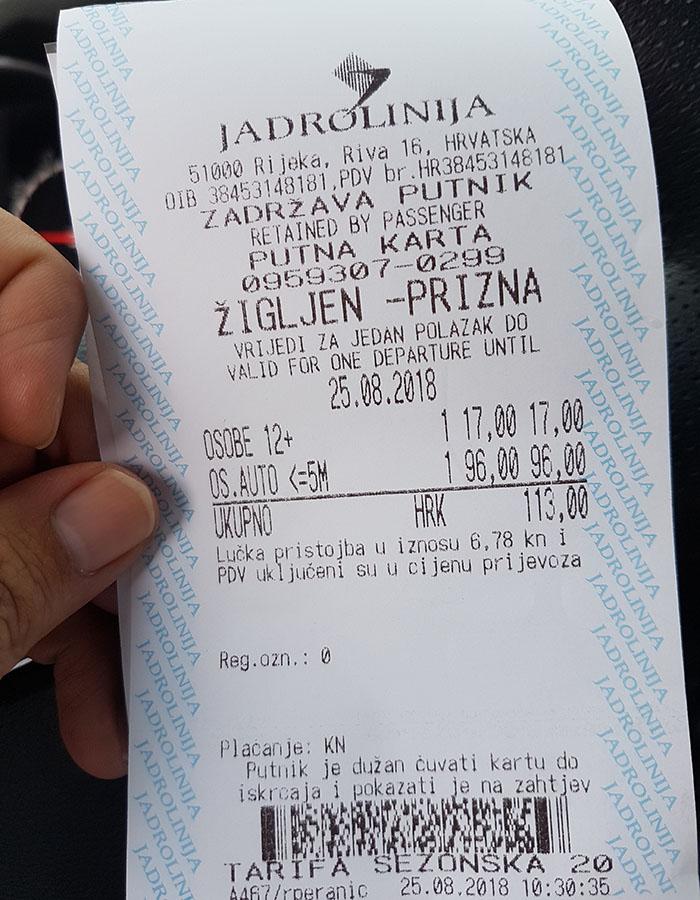Anreise Partyurlaub Kroatien Novalja mit dem Auto PKW Kosten Preis Information für die Fähre