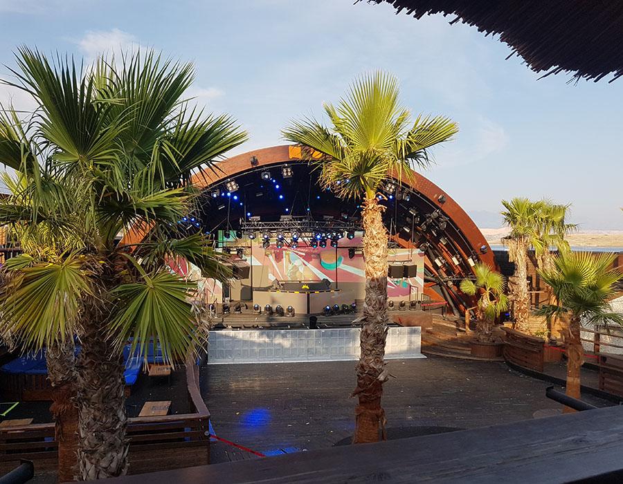 Novalja Zrce Beach Kroatien Bühne NOA OpenAirClub