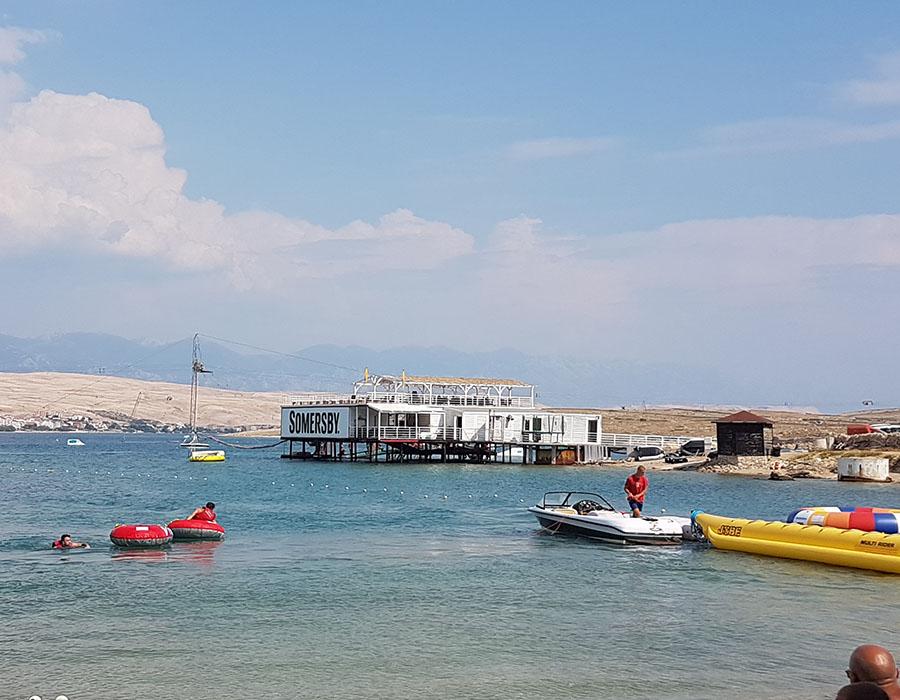 Partyurlaub Novalja Zrce Beach Kroatien Bild vom Partystrand