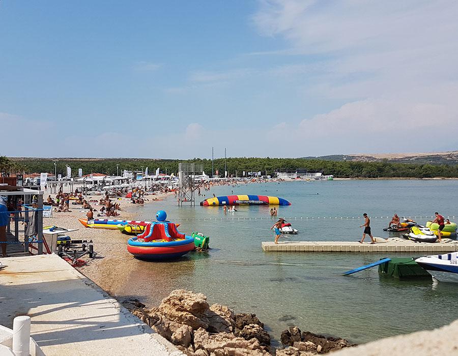 Novalja Zrcé Beach Kroatien Partystrand