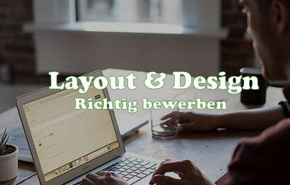 Richtig bewerben - Layout und Design Gestaltung bei einer Bewerbung - Tipps Beitragsbild