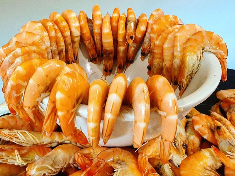 Frische Shrimps im Hotel Clumba Cala Ratjada am Buffet