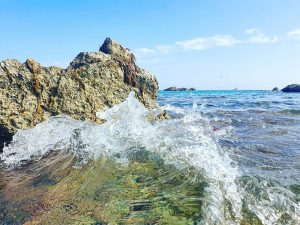 Herrliches Meerwasser am Strand