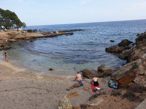 Kleine Bucht im September in Cala Ratjada