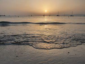 Meer und Sonnenuntergang auf Mallorca im September