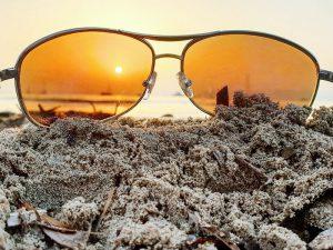 Sonnenunterngang und Sonnenbrille in Palma 2019