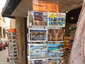 Typische Urlaubskarten in Palma auf Mallorca