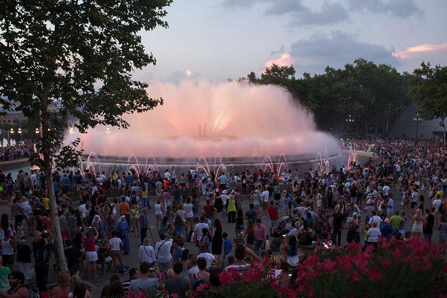 Abifahrten Barcelona Ausflug Springbrunnen zur Font Magica