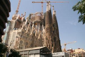 Antoni Gaudi Werk in Barcelona - die Sagrada Familia von außen