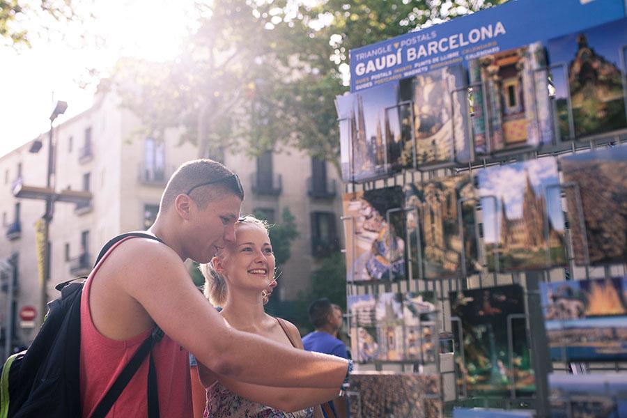 Shopping auf den La Rambla Jugendreisen Barcelona