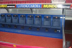 Spielerbank FC Barcelona im Camp Nou - Tagesausflug Städtereisen Barcelona
