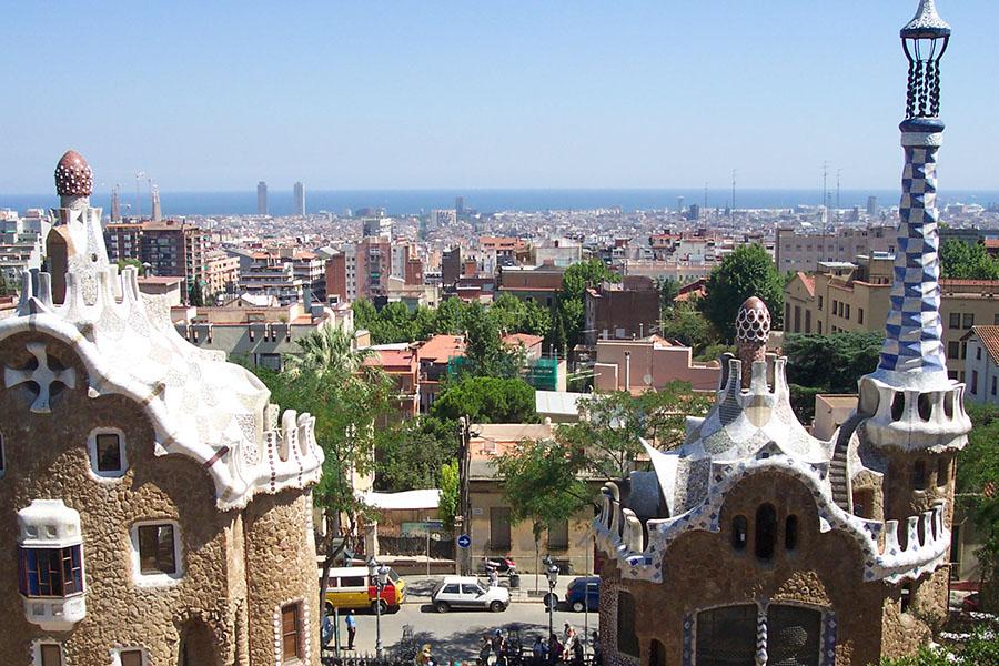 Städtereisen Barcelona Eingangsbereich Park Güell