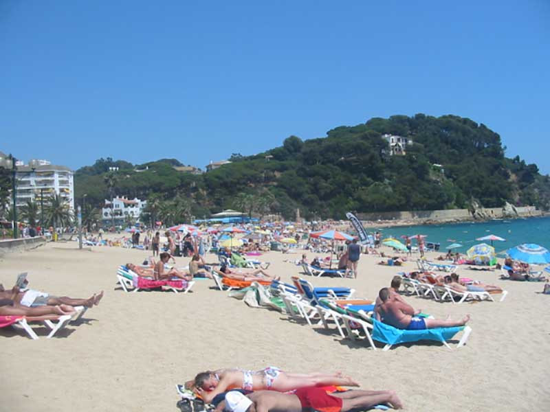 Fenalstrand in Lloret de Mar an der Costa Brava