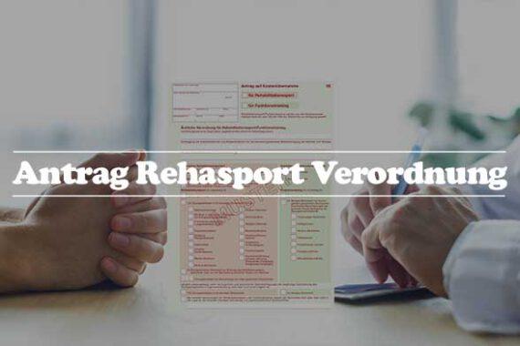 Informationen Rehasport Verordnung - Antrag auf Kostenübernahme der Gesetzlichen Krankenkassen mit Formular 56