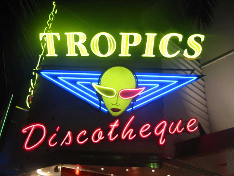 Nachtleben in Lloret de Mar Disco Tropics
