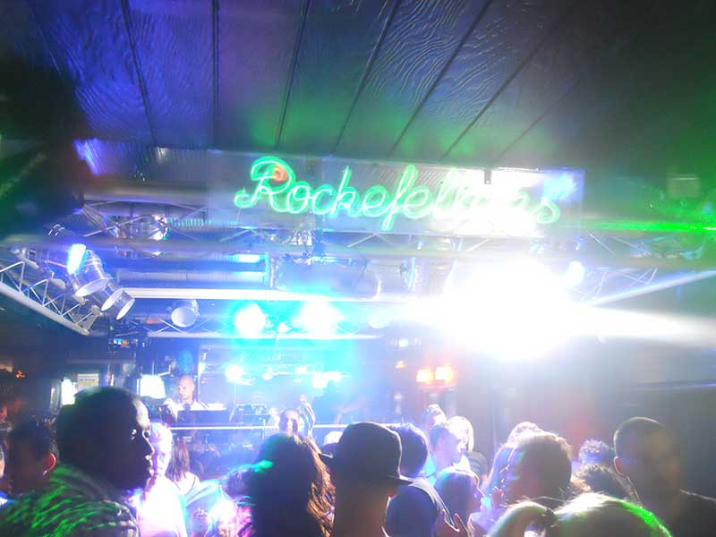 Party in Lloret de Mar hier Bar Rockfellers