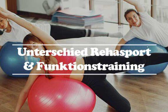 Rehasport Funktionstraining Unterschied - hier Übungsleitung Training mit Medizinball