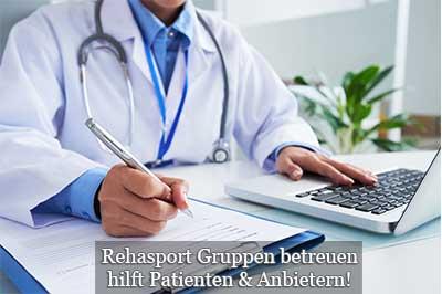 Rehasport Informationen für Ärzte - verordnen betreuen und kooperieren