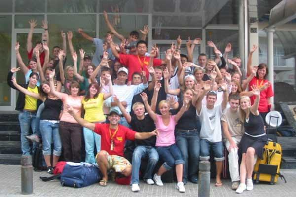 Zufrieden Gäste bei Jugendreisen - Job als Reiseleiter