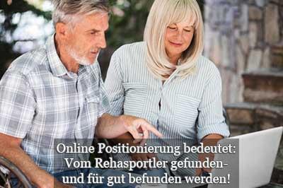 Erfolgreiche Online Positionierung am Beispiel Rehasport Marketing für Rehasportler