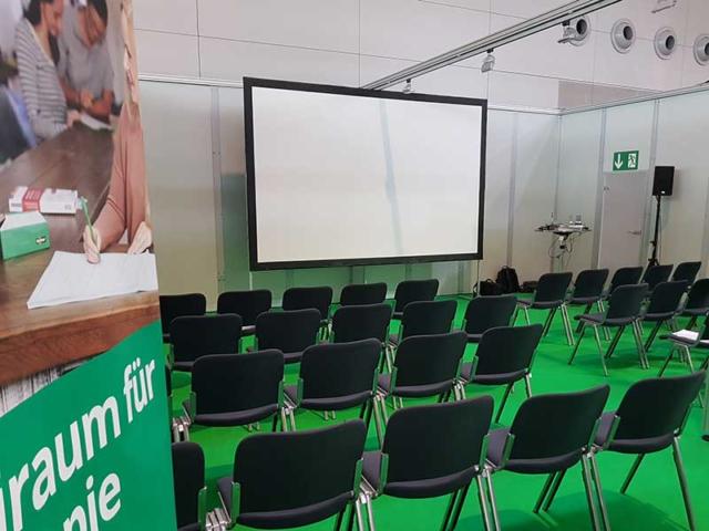 Rehasport Messe Vortrag - hier Raum auf der TheraPro in Stuttgart