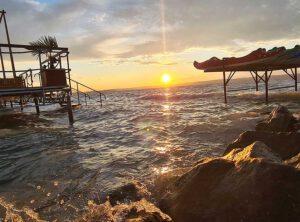 Covid Test Siofok Informationen und Impressionen hier Sonnenuntergang